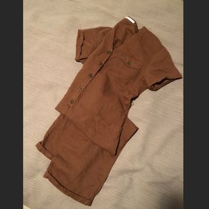 Zara linen sustainable jumpsuit / coverall